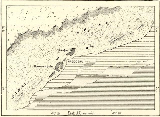 Map of Mogadishu circa 1889