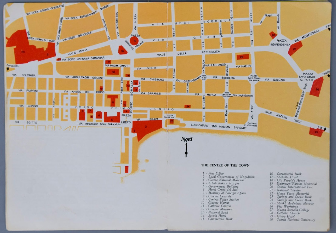 Maps | Mogadishu: Images from the Past Mogadishu Map